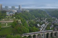 Architecture - Urbanisme - Panoramique-Aerienne-Kirchberg-Institutions-Europeennes-Luxembourg-et-CFL