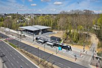 Architecture - Urbanisme - photographie_aerienne_funiculaire_tramway_gare_1_kirchberg_luxembourg_photonair_Gerard-Borre-Photographe