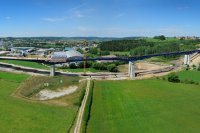 Panoramiques - photographie_aerienne_panoramique_contournement_Junglinster_luxembourg_photonair